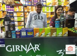 The Girnar Exhibitors, Ayesha and Rishaad.