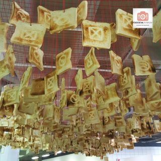 A Toast to Prolong the Taste... Toasted breads hanging overhead at the #GFWS