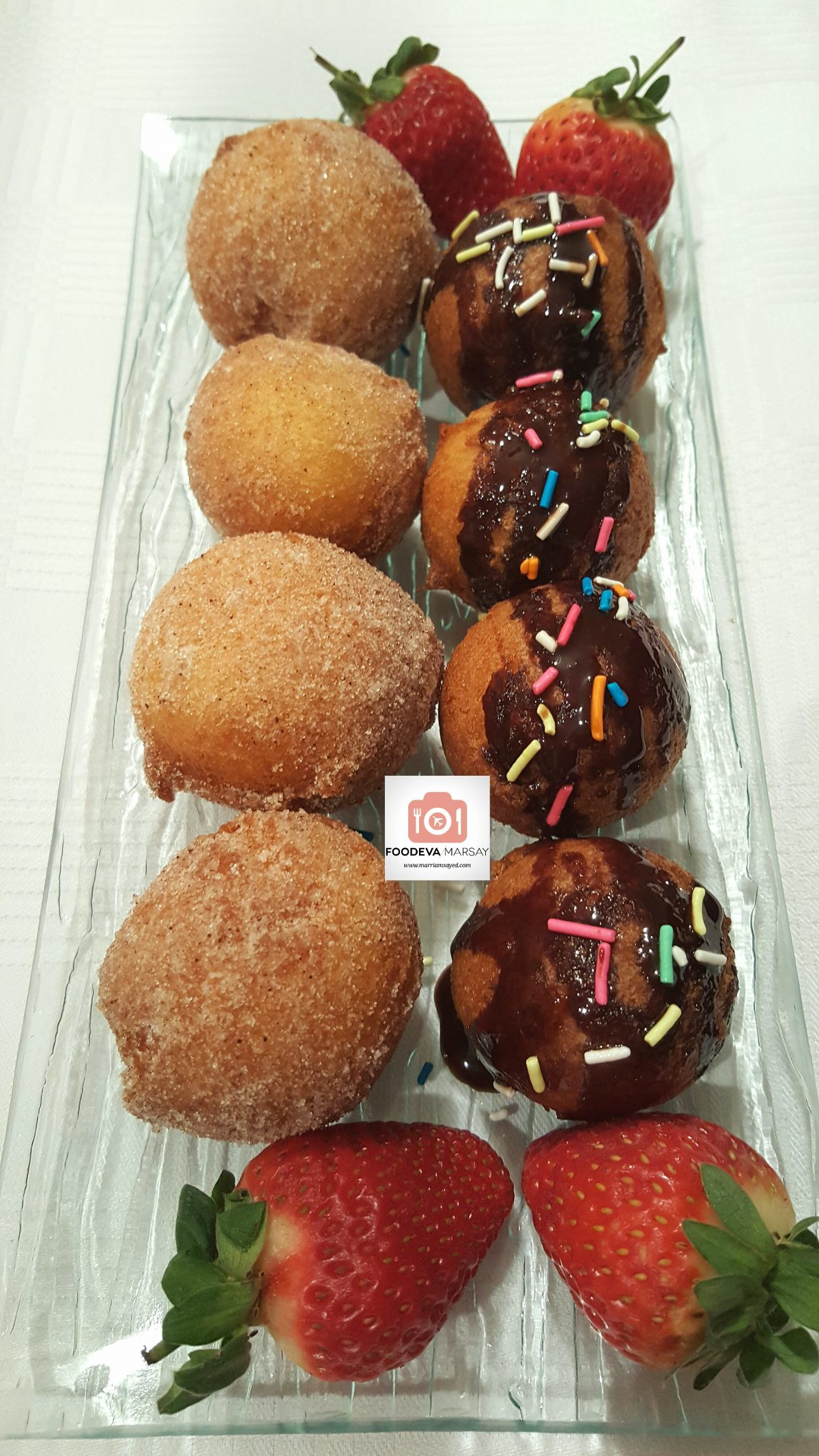 Easy 'Funfair Style' Donuts - Serving Suggestions