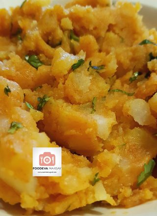 Aloo (potato) Filling After Mashing
