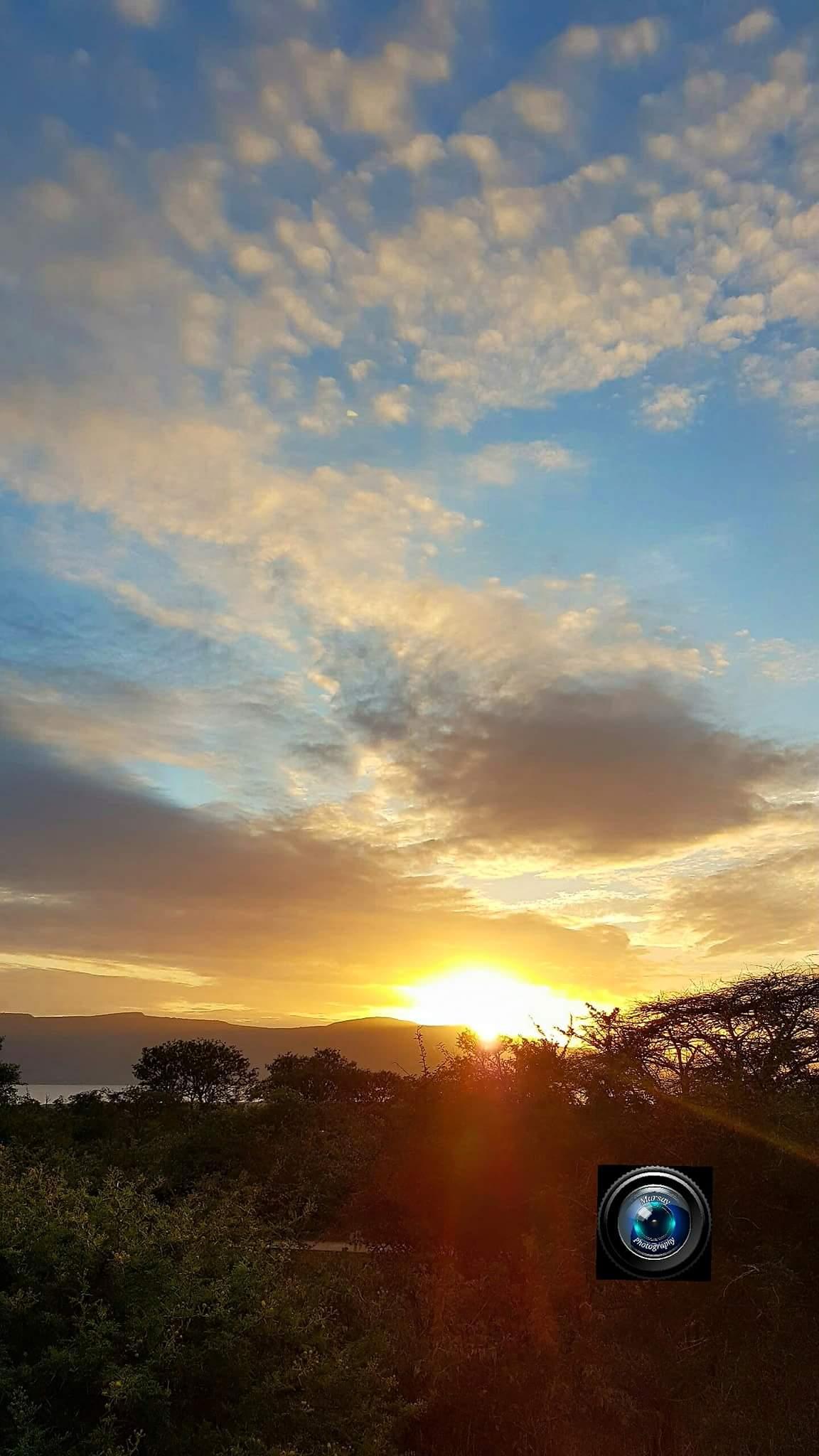 Sunrise in Pongola Nature Reserve, Kwa-Zulu Natal, December 2016.