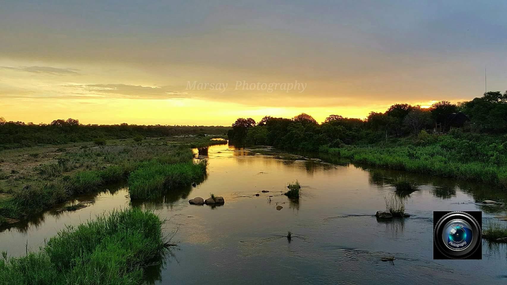 Sunset over Sabie River in Kruger National Park, December 2016