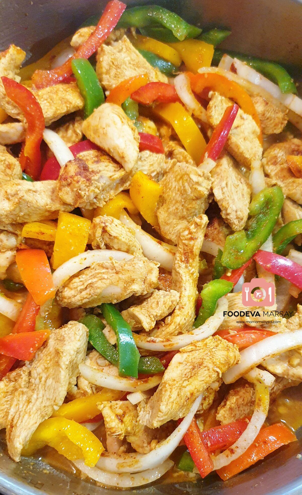 Add More Spices To the Fajita for more flavour.